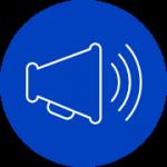 loud speaker blue