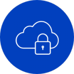 secure cloud blue